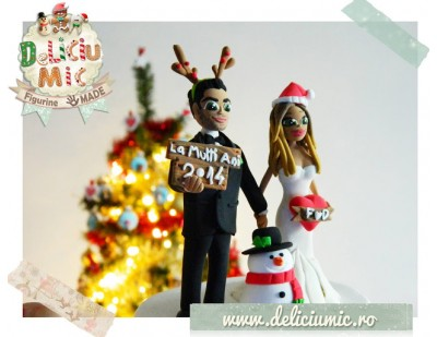 """I do!"" de Craciun  - Figurine tort de nunta"