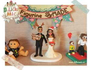"""""""O nunta de poveste"""" - figurine de tort pentru nunta in tema Craciunului"""