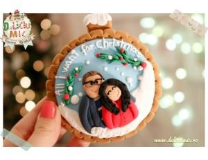 """All I want for Christmas""  - glob personalizat pentru brad"