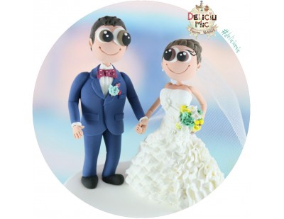Figurine de tort pentru Nunta  personalizate - Mire si Mireasa