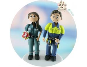 Figurine tort Nunta Mire si Mireasa voluntar pe Ambulanta