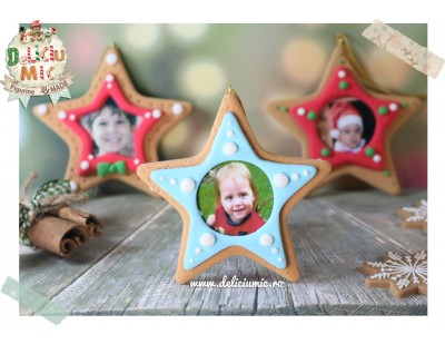 "Decoratiune Rama Foto Steluta bleo ""Twinkle Little Star"""