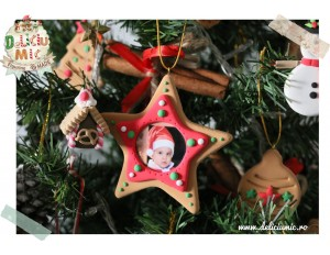 "Decoratiune Rama Foto Steluta rosie ""Twinkle Little Star"""