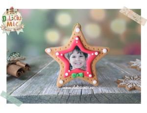 "Decoratiune Rama Foto Steluta rosie si papion verde ""Twinkle Little Star"""