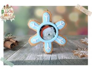 """Decoratiune Rama Foto """"Snowflake"""""""