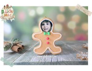 "Decoratiune Rama Foto ""Gingerbread man Undercover"""