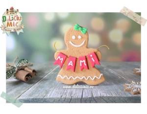 "Decoratiune personalizata cu Numele ""Christmas Gingerbread Woman"""