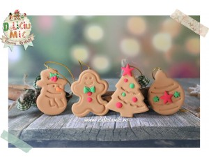 "Set 4 decoratiuni ""Happy Winter"""
