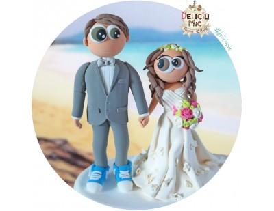 Figurine tort Nunta - La Mare