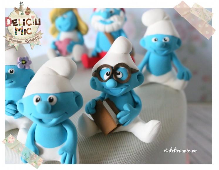 Set 7 Strumfi Figurine De Tort