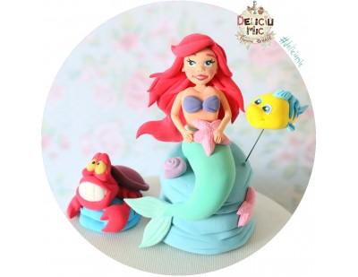 Figurine de tort Mica Sirena - Ariel, Pestisor si Rac