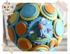 Lumanare botez Winnie de Plus si nasturi colorati  - pentru fete / baieti