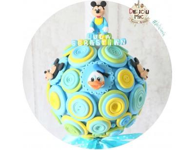 "Lumanare de botez ""Mickey Mouse & Donald Duck"""
