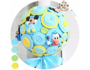"Lumanare de botez ""Mickey Mouse & Donald Duck"""