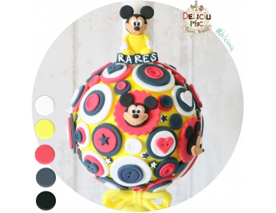 "Lumanare de botez ""Mickey Mouse"""
