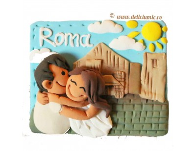 "Magnet pentru indragostiti cu tema ""Locuri speciale Roma"""