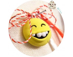 "Martisor Medalion ""Smiley Face"""