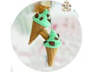 """Cercei  inghetata """"Verde-menta & chocolate chips"""""""